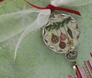 Soldered Ornament Card Closeup