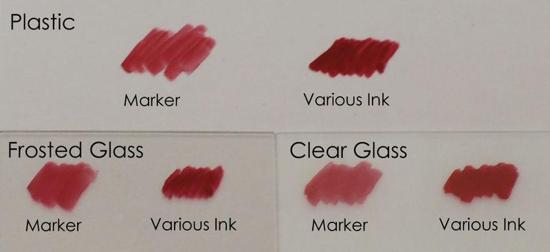 Marker vs Various Ink