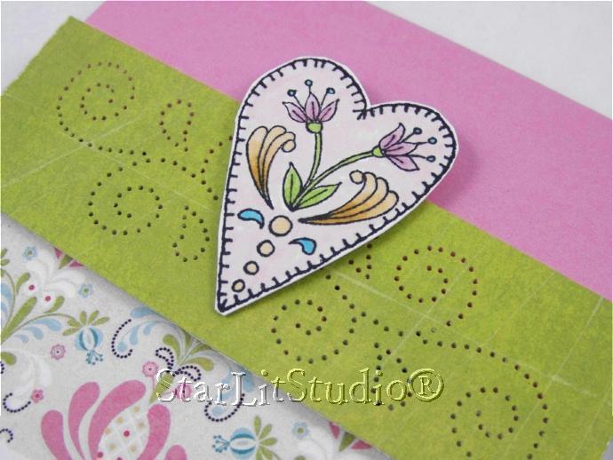 Heart card 5