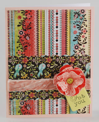 Resist Flower Card