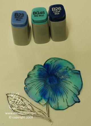 Blue Alcohol Ink