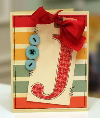 The Monogram J card