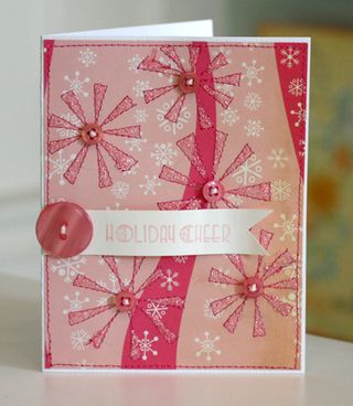 Sewing finished snowflake project 5