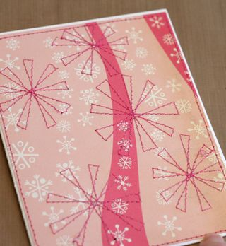 Sewing finished snowflake project 1