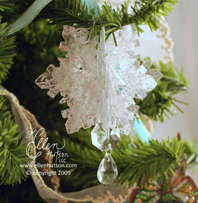 Clear Plastic Snowflake
