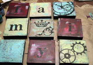 Painted-canvases
