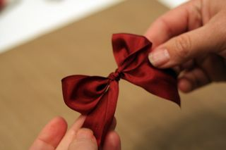 Tying a bow 6