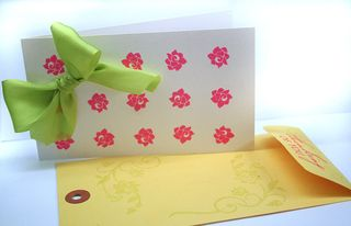 Dotted-floral-card