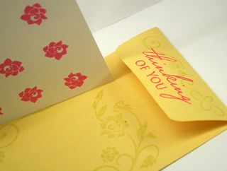 Dotted-floral-envelope
