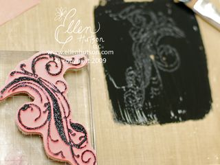 Rubber stamping with paint