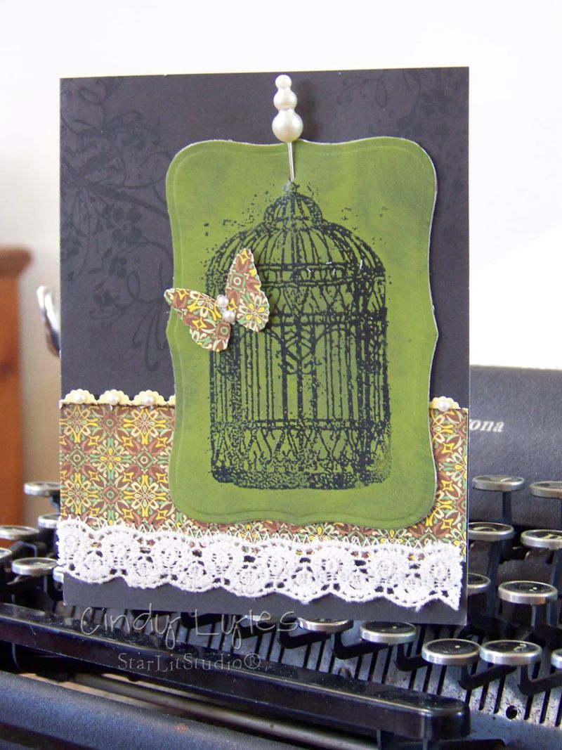 Butterfly cage card 11