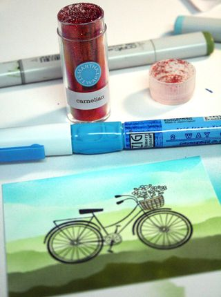 Glue-glitter-bike