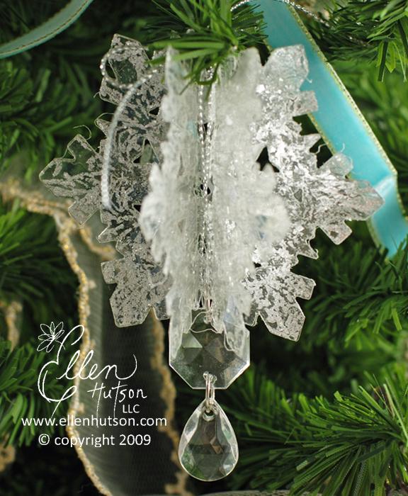 Clear Plastic Snowflake 2