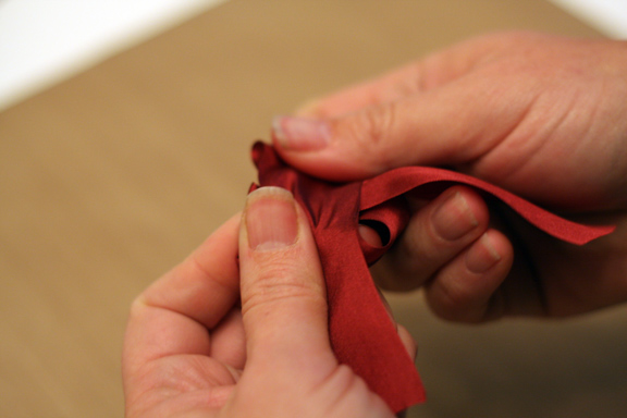 Tying a bow 2