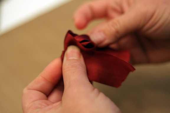 Tying a bow 3