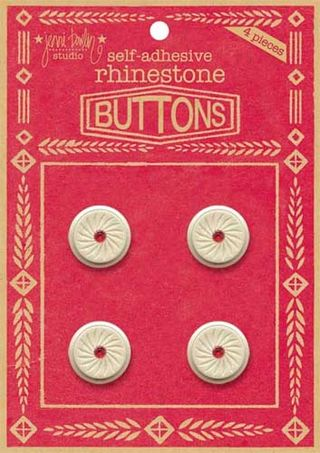 Rhinestone buttons red