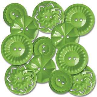 Vintage sew on buttons green