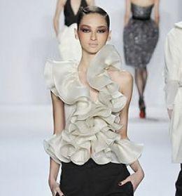 Ruffle haute couture