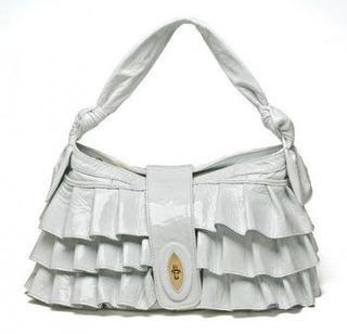 Ruffle handbag
