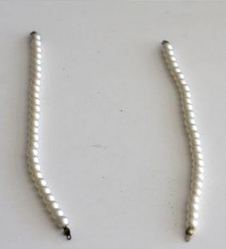 Vintage Groove Pearl necklace and earrings 2