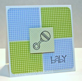 Baby Blanket Rattle - Lisa Strahl