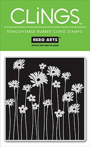 Flower post HA cling stamp