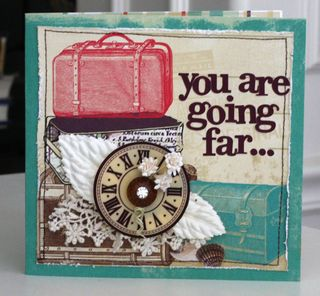Webster's You will go far card front feminine