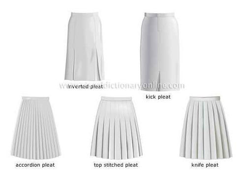 Pleats skirts