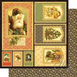Graphic 45 Christmas Past frames