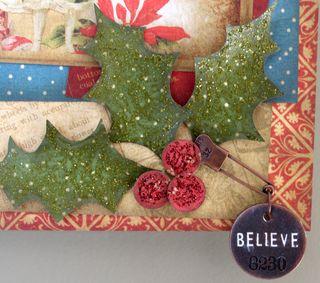 Christmas Past Joy Wall Hanging close up 2