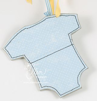 Onesie Gift Tag Holder