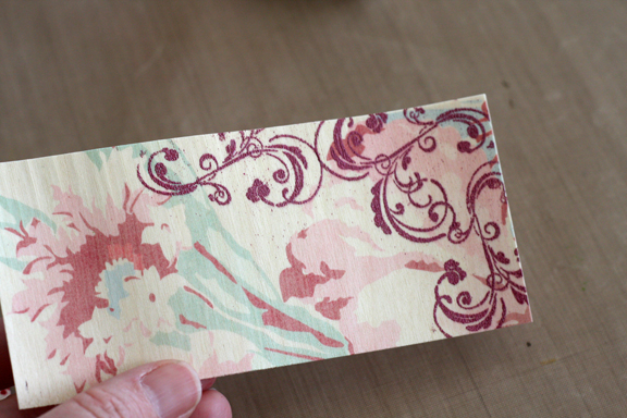 Printing and embossing on wood 10