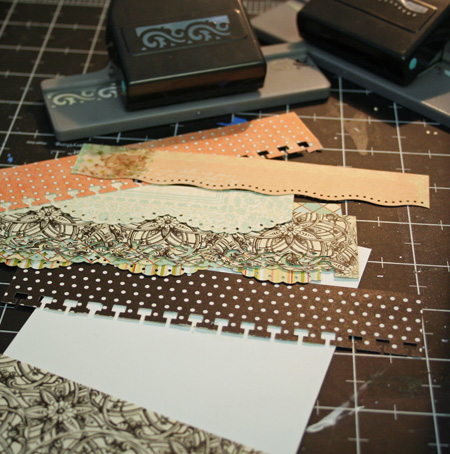Paper-strips-border-punches