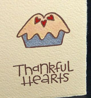 Thankful Hearts - close up by Lisa Strahl