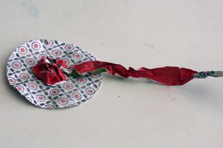 Flower week paper rosette 4