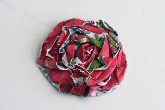Flower week paper rosette 5