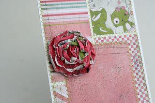 Flower week paper rosette 6