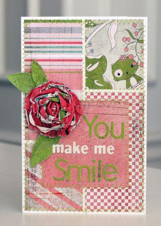 Flower week paper rosette finished