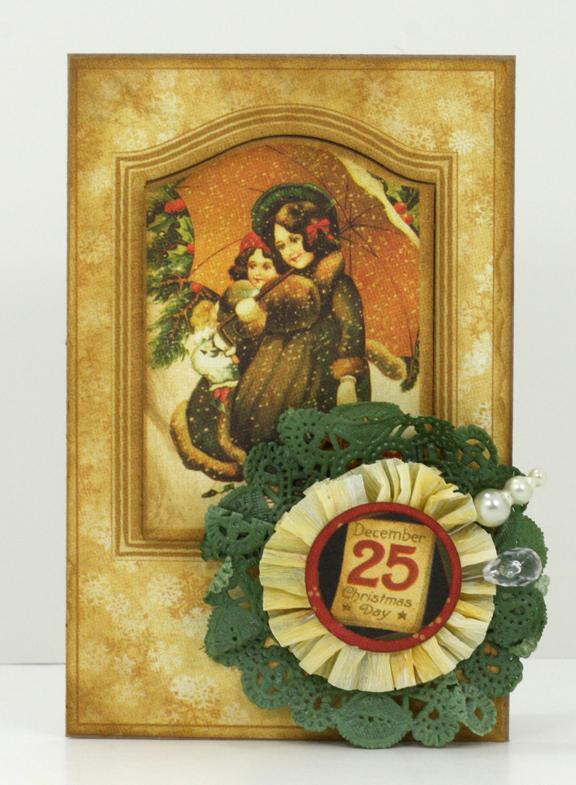 G45 doily Christmas card 2