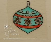 Ornament with Adhesive