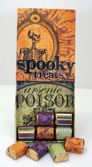 Spooky Treats sliding matchbox