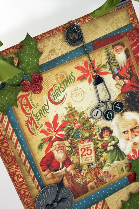 Christmas Past Joy Wall Hanging close up
