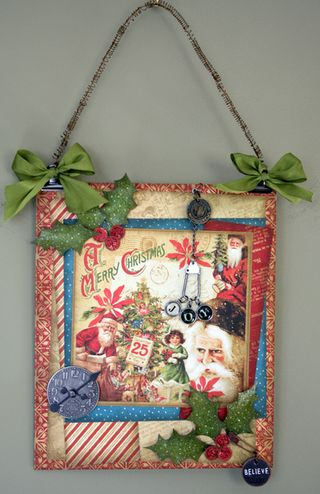 Christmas Past Joy Wall Hanging on wall