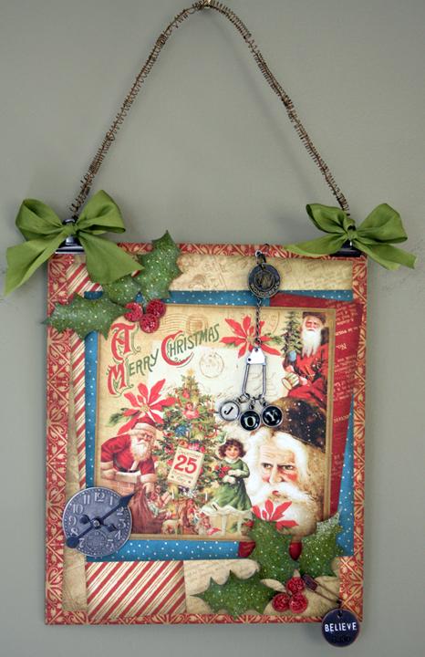 Christmas Past Joy Wall Hanging on wall