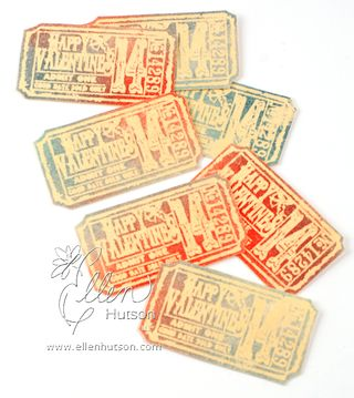 Embossed Batik Tickets