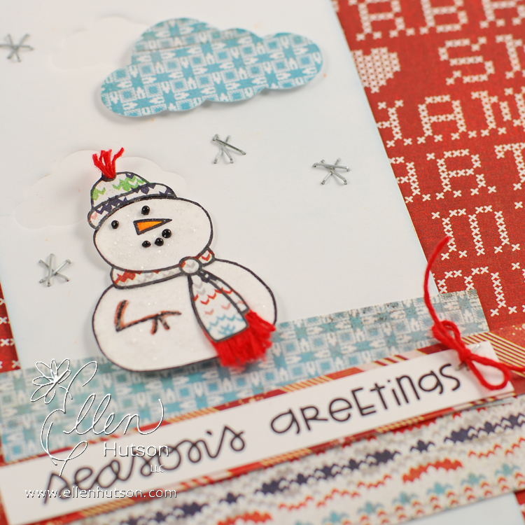 Swanky Snowman Closeup