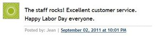 Labor Day Comment