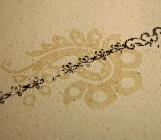 Canvas-stamped-and-embossed
