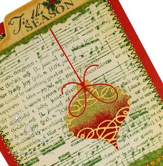 Ombre Glitter Ornament Closeup