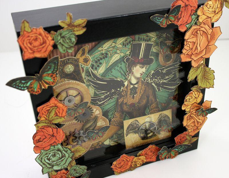 Steampunk shadow box final left
